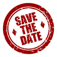 stempel rund save the date I